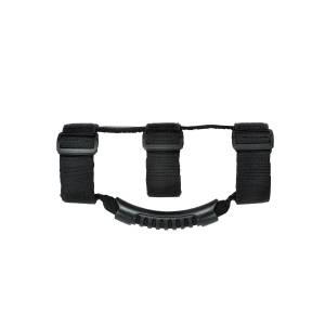 Jeep Body Parts/ Accessories - Rugged Ridge - Rugged Ridge Ultimate Grab Handles, Black (1955-15) Jeep CJ/Wrangler YJ/TJ/JK