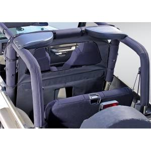 Jeep Body Parts/ Accessories - Rugged Ridge - Rugged Ridge Windbreaker, Black Denim (1980-06) Jeep CJ/Wrangler YJ/TJ