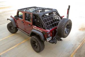 Jeep Tops & Doors - Jeep Tops - Rugged Ridge - Rugged Ridge Cargo Net, Black (2007-15) Jeep Wrangler JK 4 Door