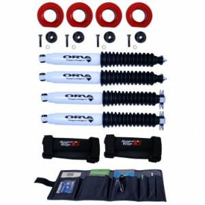 Body Parts - Rugged Ridge - Rugged Ridge 2 Inch Coil Spacer Kit with Shocks (1997-06) Jeep Wrangler TJ