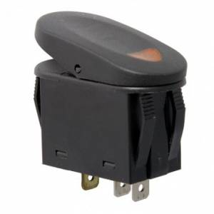 Electronic Accessories - Switches - Rugged Ridge - Rugged Ridge 2-Position Rocker Switch, Red