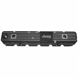 Engine Parts - Engine Dress Up - Omix-ADA - Omix-ADA Aluminum Valve Cover with Jeep Logo (1981-86) Jeep CJ7/CJ8, 4.2L