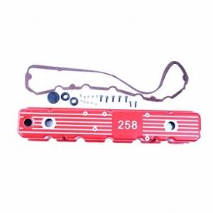 Engine Parts - Engine Dress Up - Omix-ADA - Omix-ADA Aluminum Valve Cover, Red, 258 (1981-87) Jeep CJ/Wrangler YJ