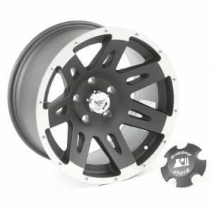 Rugged Ridge XHD Wheel/Center Cap, 17x9, Black with Machined Lip (2007-15) Wrangler JK