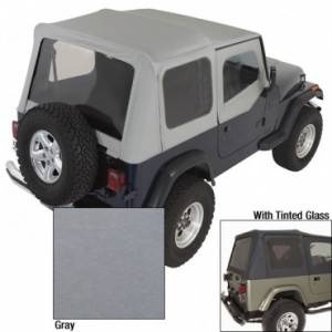 Jeep Tops & Doors - Jeep Tops - Rugged Ridge - Rugged Ridge XHD Soft Top, Charcoal, Tinted Windows (1988-95) Jeep Wrangler YJ