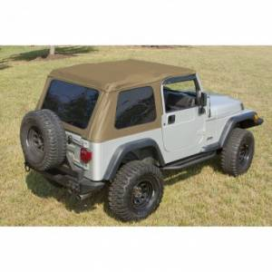 Jeep Tops & Doors - Jeep Tops - Rugged Ridge - Rugged Ridge XHD Soft Top, Bowless, Spice, Sailcloth (1997-06) Jeep Wrangler TJ