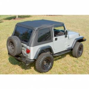 Jeep Tops & Doors - Jeep Tops - Rugged Ridge - Rugged Ridge XHD Soft Top, Bowless, Black, Sailcloth (1997-06) Jeep Wrangler TJ