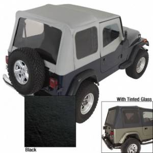 Jeep Tops & Doors - Jeep Tops - Rugged Ridge - Rugged Ridge XHD Soft Top, Black, Tinted Windows (1988-95) Jeep Wrangler YJ