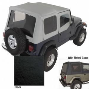 Jeep Tops & Doors - Jeep Tops - Rugged Ridge - Rugged Ridge XHD Soft Top, Black, Tinted Windows (1988-95) Jeep Wrangler YJ