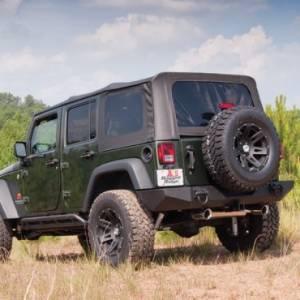 Jeep Tops & Doors - Jeep Tops - Rugged Ridge - Rugged Ridge XHD Soft Top, Black, Spring Assist (2007-09) Wrangler Unlimited JK