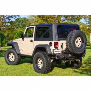 Jeep Tops & Doors - Jeep Tops - Rugged Ridge - Rugged Ridge XHD Soft Top, Black Diamond, Tinted (2004-06) Jeep Wrangler Unlimited LJ