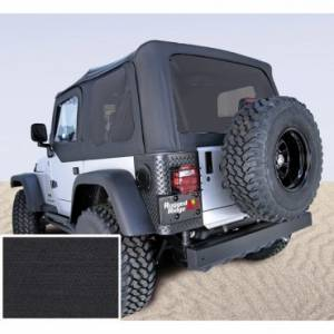 Jeep Tops & Doors - Jeep Tops - Rugged Ridge - Rugged Ridge XHD Soft Top, Black Diamond, Bowless, Sailcloth (1997-06) Wrangler TJ