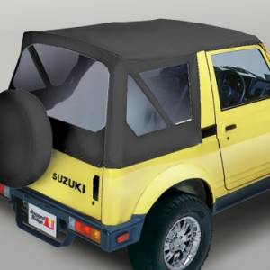 Jeep Tops & Doors - Jeep Tops - Rugged Ridge - Rugged Ridge XHD Soft Top, Black Denim, Clear Windows (1981-98) Suzuki Samurai