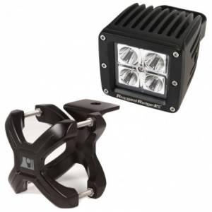 Off-Road Lighting - LED Lights - Rugged Ridge - Rugged Ridge X-Clamp and Square LED Light Kit, Small, Black, 1 Piece
