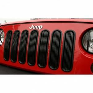 Exterior Accessories - Grilles - Rugged Ridge - Rugged Ridge Billet Grille Insert, Black (2007-15) Jeep Wrangler JK
