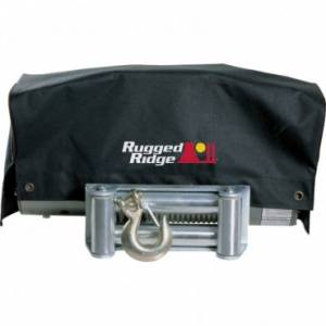 Winches - Winch Accessories & Parts - Rugged Ridge - Rugged Ridge Winch Cover, 8,500lb and 10,500lb winches