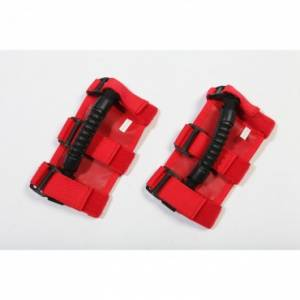 Exterior Accessories - Grab Handles - Rugged Ridge - Rugged Ridge UTV Ultimate Grab Handles, Red; ATV/UTV
