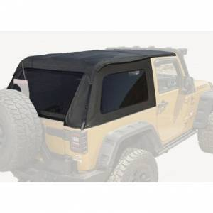 Jeep Tops & Doors - Jeep Tops - Rugged Ridge - Rugged Ridge Bowless Top, Black Diamond (2007-15) Jeep Wrangler JK, 2-Door