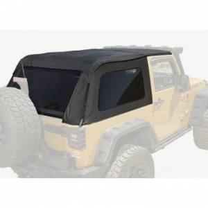 Jeep Tops & Doors - Jeep Tops - Rugged Ridge - Rugged Ridge Bowless Top, Black Diamond (2007-15) Jeep Wrangler JK, 2-Door