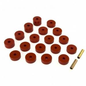 Body Parts - Body Parts Accessories - Rugged Ridge - Rugged Ridge Bushing Set Body Mount (1974-75) Jeep CJ
