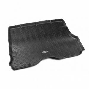 Interior Accessories - Floor Liners/Mats - Rugged Ridge - Rugged Ridge Cargo Liner, Black, Jeep Logo (1984-01) Jeep Cherokee XJ