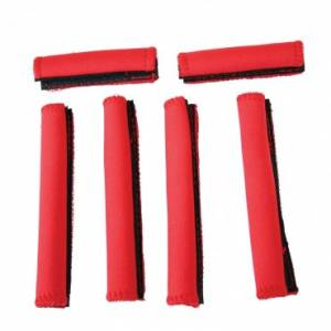 UTV/ATV - Rugged Ridge - Rugged Ridge UTV Handle Wrap Kit, Red, 6 Piece (2004-11) Yamaha Rhinos