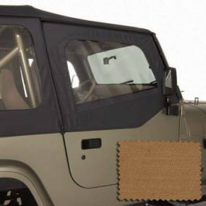 Jeep Doors - Door Accessories - Rugged Ridge - Rugged Ridge Upper Soft Door Kit, Spice (1988-95) Jeep Wrangler YJ