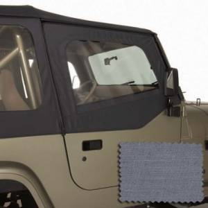 Jeep Doors - Door Accessories - Rugged Ridge - Rugged Ridge Upper Soft Door Kit, Gray (1988-95) Jeep Wrangler YJ