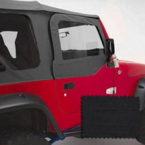Jeep Doors - Door Accessories - Rugged Ridge - Rugged Ridge Upper Soft Door Kit, Black Diamond (1988-95) Jeep Wrangler YJ