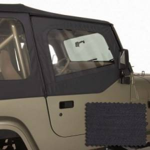 Jeep Doors - Door Accessories - Rugged Ridge - Rugged Ridge Upper Soft Door Kit, Black Denim (1988-95) Jeep Wrangler YJ