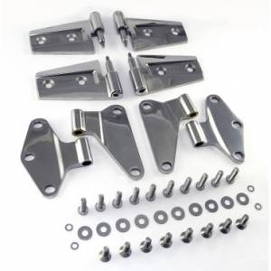 Jeep Doors - Door Accessories - Rugged Ridge - Rugged Ridge Door Hinge Kit, Stainless Steel (2007-15) Jeep Wrangler JK