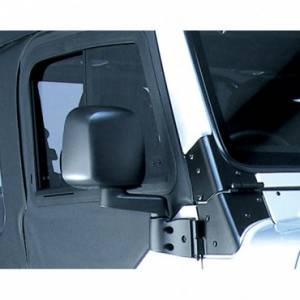 Exterior Accessories - Mirrors - Rugged Ridge - Rugged Ridge Door Mirror, Black, Right Side (1987-06) Jeep Wrangler