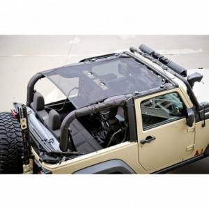 Jeep Tops & Doors - Jeep Tops - Rugged Ridge - Rugged Ridge Eclipse Sun Shade, Black (2007-15) Jeep Wrangler JK, 2 Door