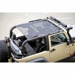 Jeep Tops & Doors - Jeep Tops - Rugged Ridge - Rugged Ridge Eclipse Sun Shade, Black (2007-15) Jeep Wrangler JK, 2 Door
