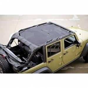 Jeep Tops & Doors - Jeep Tops - Rugged Ridge - Rugged Ridge Eclipse Sun Shade, Black (2007-15) Jeep Wrangler Unlimited JK, 4 Door