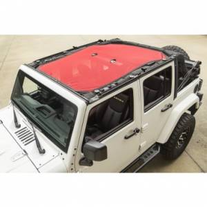Jeep Tops & Doors - Jeep Tops - Rugged Ridge - Rugged Ridge Eclipse Sun Shade, Red (2007-15) Jeep Wrangler Unlimited JK, 4-Door