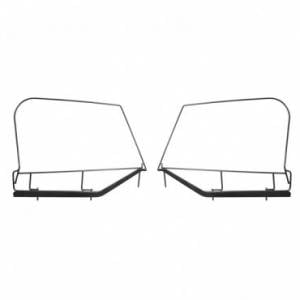 Jeep Doors - Door Accessories - Rugged Ridge - Rugged Ridge Upper Door Skin Frames (1997-06) Jeep Wrangler TJ