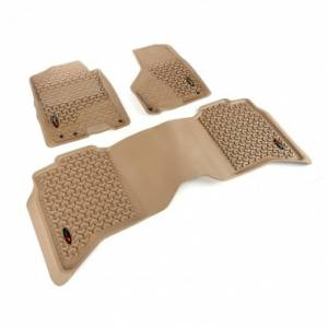 Interior Accessories - Floor Liners/Mats - Rugged Ridge - Rugged Ridge Floor Liner Kit, Tan, Front/Rear (2009-15) Ram 1500/2500/3500 Crew Cab