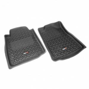 Interior Accessories - Floor Liners/Mats - Rugged Ridge - Rugged Ridge Floor Liners, Front, Black (2005-11) Toyota Tacoma, Automatic