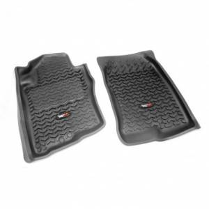 Interior Accessories - Floor Liners/Mats - Rugged Ridge - Rugged Ridge Floor Liners, Front, Black (2005-12) Nissan Pathfinder (2005-15) Xterra