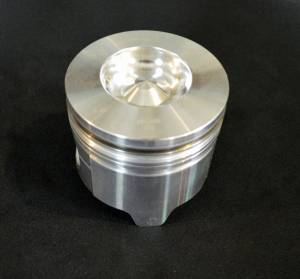 Mahle - MAHLE Clevite Piston, Ford (1994-03) 7.3L Power Stroke, with 0.010 Reduced Height, 0.030 over