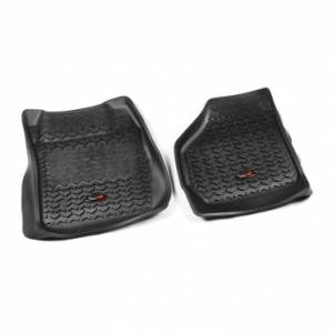Rugged Ridge - Rugged Ridge Floor Liners, Front, Black (1999-07) Ford F-250/F-350 Ext/Reg/SuperCrew