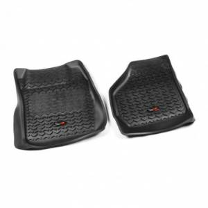 Interior Accessories - Floor Liners/Mats - Rugged Ridge - Rugged Ridge Floor Liners, Front, Black (1999-07) Ford F-250/F-350 Ext/Reg/SuperCrew