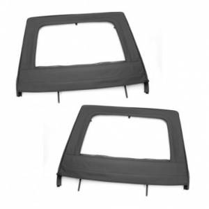 Jeep Doors - Door Accessories - Rugged Ridge - Rugged Ridge Upper Door Kit, Rear, Black (2007-15) Jeep Wrangler Unlimited JK