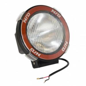 Lighting - Auxiliary Lighting - Rugged Ridge - Rugged Ridge 5 Inch Round HID Off Road Light Kit, Black Composite Housing