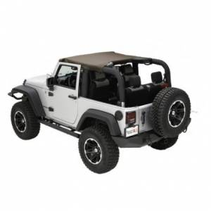 Jeep Tops & Doors - Jeep Tops - Rugged Ridge - Rugged Ridge Summer Brief Top, Diamond Khaki (2010-15) Jeep Wrangler JK