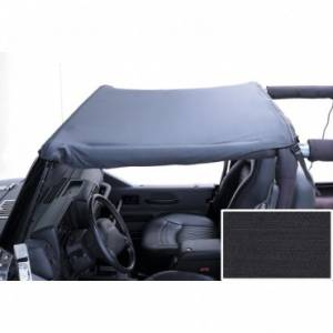 Jeep Tops & Doors - Jeep Tops - Rugged Ridge - Rugged Ridge Summer Brief Header, Black Denim (1997-06) Jeep Wrangler TJ