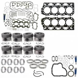 Engine Gaskets & Seals - Engine Overhaul Kits - Mahle - MAHLE Clevite Complete Engine Overhaul Kit, Chevy/GMC (2001-04) 6.6L Duramax LB7 (VIN Code 1)