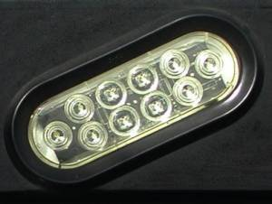 "Lighting - Auxiliary Lighting - Ranch Hand - Ranch Hand LED 6"" Oval Light, Clear"