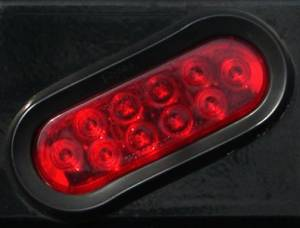 "Exterior Accessories - Headache Racks - Ranch Hand - Ranch Hand LED 6"" Oval Light, Red"
